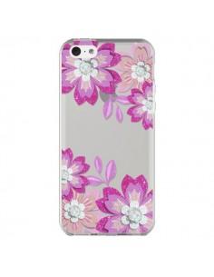 Coque iPhone 5C Winter Flower Rose, Fleurs d'Hiver Transparente - Sylvia Cook