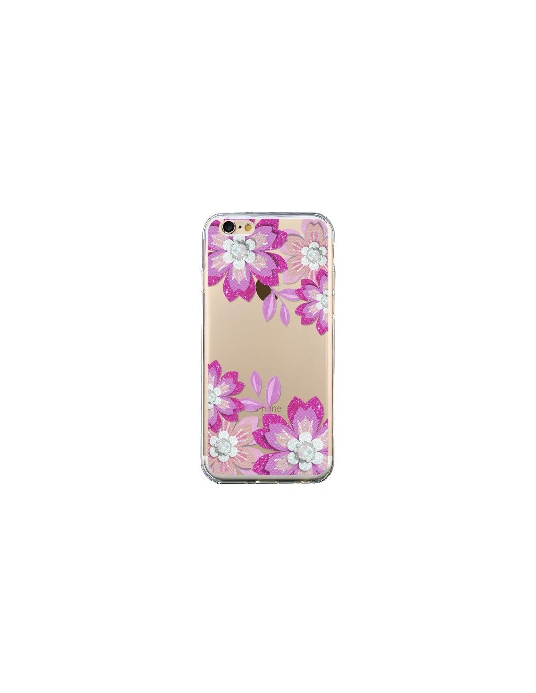 coque iphone 6 transparente fleur