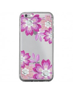 Coque iPhone 6 Plus et 6S Plus Winter Flower Rose, Fleurs d'Hiver Transparente - Sylvia Cook