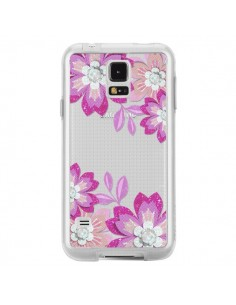 Coque Winter Flower Rose, Fleurs d'Hiver Transparente pour Samsung Galaxy S5 - Sylvia Cook