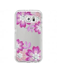 Coque Winter Flower Rose, Fleurs d'Hiver Transparente pour Samsung Galaxy S6 - Sylvia Cook
