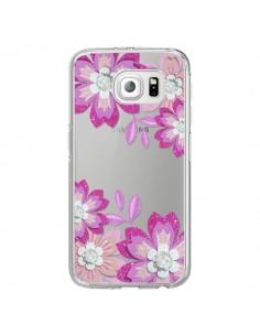 Coque Winter Flower Rose, Fleurs d'Hiver Transparente pour Samsung Galaxy S6 Edge - Sylvia Cook