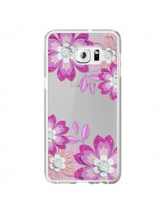 Coque Winter Flower Rose, Fleurs d'Hiver Transparente pour Samsung Galaxy S6 Edge Plus - Sylvia Cook
