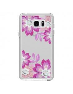 Coque Winter Flower Rose, Fleurs d'Hiver Transparente pour Samsung Galaxy Note 5 - Sylvia Cook