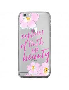 Coque iPhone 6 Plus et 6S Plus Explorer of Truth and Beauty Transparente - Sylvia Cook