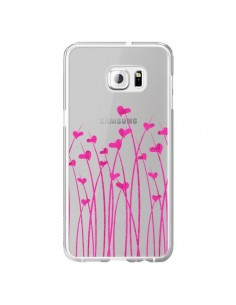 Coque Love in Pink Amour Rose Fleur Transparente pour Samsung Galaxy S6 Edge Plus - Sylvia Cook