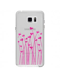 Coque Love in Pink Amour Rose Fleur Transparente pour Samsung Galaxy Note 5 - Sylvia Cook