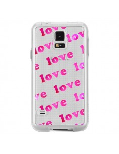 Coque Pink Love Rose Transparente pour Samsung Galaxy S5 - Sylvia Cook