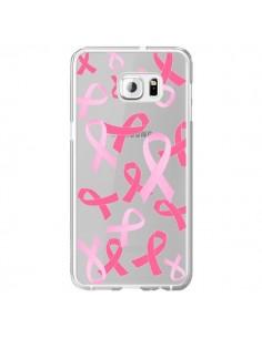 Coque Pink Ribbons Ruban Rose Transparente pour Samsung Galaxy S6 Edge Plus - Sylvia Cook