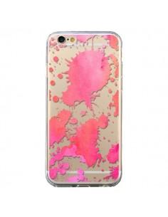 Coque Watercolor Splash Taches Rose Orange Transparente pour iPhone 6 et 6S - Sylvia Cook
