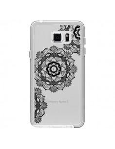 Coque Triple Mandala Noir Black Transparente pour Samsung Galaxy Note 5 - Sylvia Cook