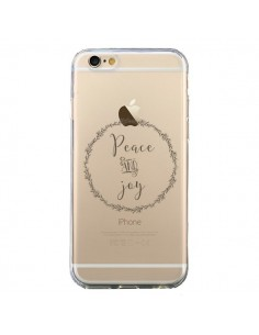 Coque Peace and Joy, Paix et Joie Transparente pour iPhone 6 et 6S - Sylvia Cook