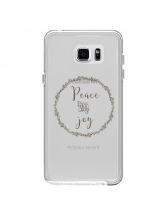 Coque Peace and Joy, Paix et Joie Transparente pour Samsung Galaxy Note 5 - Sylvia Cook