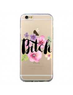 Coque Bitch Flower Fleur Transparente pour iPhone 6 et 6S - Maryline Cazenave