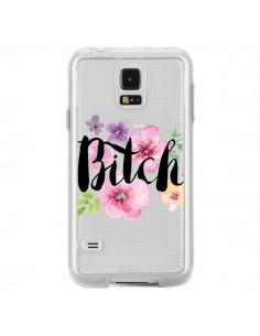 Coque Bitch Flower Fleur Transparente pour Samsung Galaxy S5 - Maryline Cazenave
