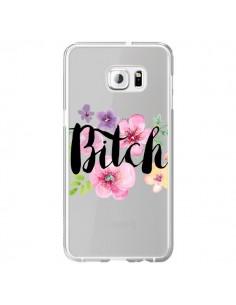 Coque Bitch Flower Fleur Transparente pour Samsung Galaxy S6 Edge Plus - Maryline Cazenave