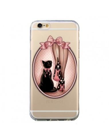 Coque Lady Chat Noeud Papillon Pois Chaussures Transparente pour iPhone 6 et 6S - Maryline Cazenave