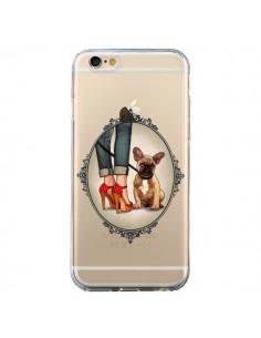 Coque Lady Jambes Chien Bulldog Dog Transparente pour iPhone 6 et 6S - Maryline Cazenave
