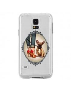 Coque Lady Jambes Chien Bulldog Dog Transparente pour Samsung Galaxy S5 - Maryline Cazenave