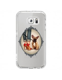 Coque Lady Jambes Chien Bulldog Dog Transparente pour Samsung Galaxy S6 - Maryline Cazenave