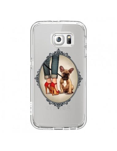 Coque Lady Jambes Chien Bulldog Dog Transparente pour Samsung Galaxy S6 - Maryline Cazenave