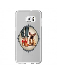 Coque Lady Jambes Chien Bulldog Dog Transparente pour Samsung Galaxy S6 Edge Plus - Maryline Cazenave
