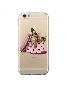 Coque Chaton Chat Kitten Boite Pois Transparente pour iPhone 6 et 6S - Maryline Cazenave