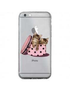 Coque Chaton Chat Kitten Boite Pois Transparente pour iPhone 6 Plus et 6S Plus - Maryline Cazenave