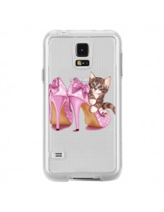 Coque Chaton Chat Kitten Chaussures Shoes Transparente pour Samsung Galaxy S5 - Maryline Cazenave