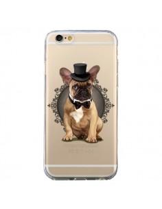 Coque Chien Bulldog Noeud Papillon Chapeau Transparente pour iPhone 6 et 6S - Maryline Cazenave