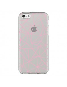 Coque iPhone 5C Lignes Triangle Rose Transparente - Project M