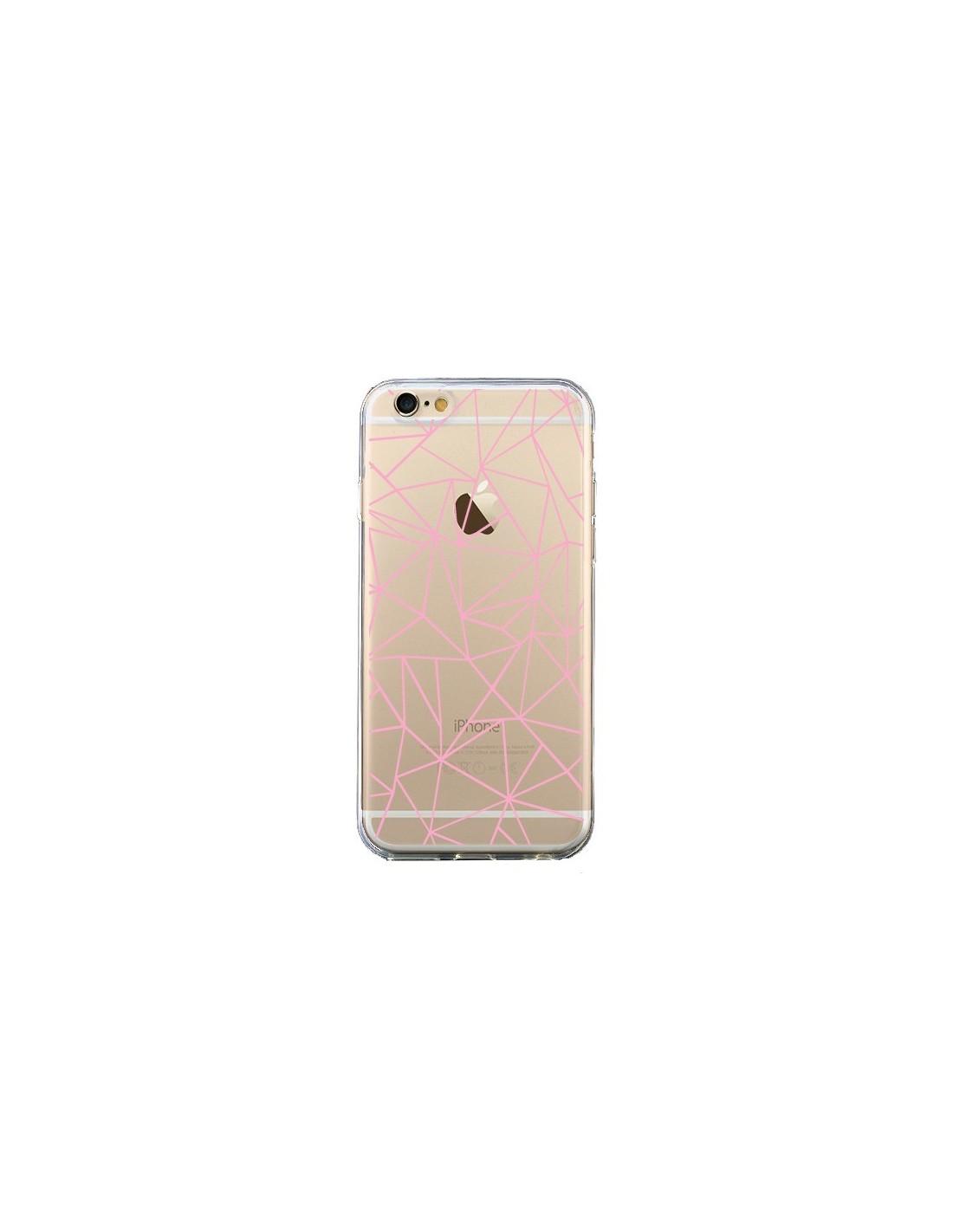 coque lignes triangle rose transparente pour iphone 6 et. Black Bedroom Furniture Sets. Home Design Ideas