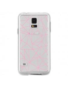 Coque Lignes Triangle Rose Transparente pour Samsung Galaxy S5 - Project M