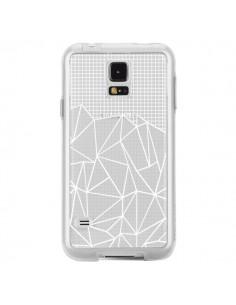 Coque Lignes Grilles Grid Abstract Blanc Transparente pour Samsung Galaxy S5 - Project M