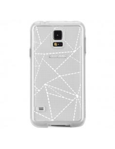 Coque Lignes Points Abstract Blanc Transparente pour Samsung Galaxy S5 - Project M