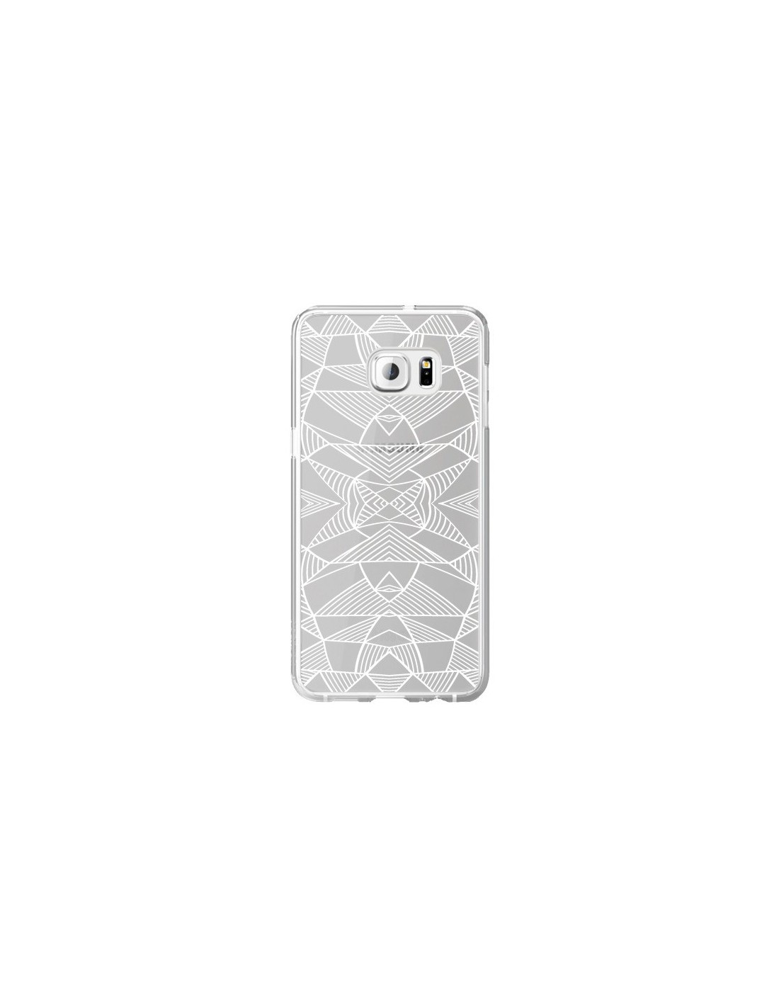 Coque lignes miroir grilles triangles grid abstract blanc for Miroir yohan