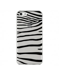 Coque iPhone 5C Zebre Zebra Noir Transparente - Project M