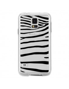 Coque Zebre Zebra Noir Transparente pour Samsung Galaxy S5 - Project M