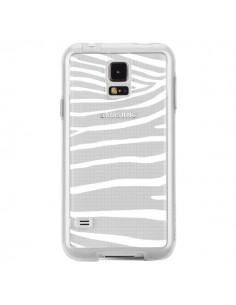 Coque Zebre Zebra Blanc Transparente pour Samsung Galaxy S5 - Project M