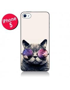 Coque Chat à lunettes pour iPhone 5