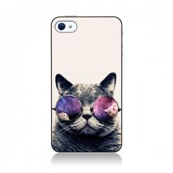 Coque Chat à lunettes pour iPhone 4 et 4S