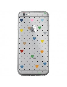 Coque iPhone 6 Plus et 6S Plus Point Coeur Coloré Pin Point Heart Transparente - Project M