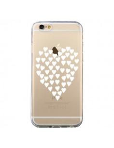 Coque iPhone 6 et 6S Coeurs Heart Love Blanc Transparente - Project M