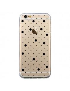 Coque iPhone 6 et 6S Point Noir Pin Point Transparente - Project M