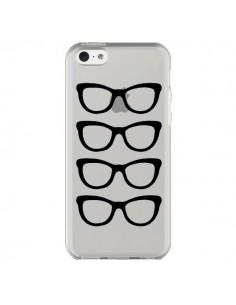 Coque iPhone 5C Sunglasses Lunettes Soleil Noir Transparente - Project M