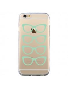 Coque iPhone 6 et 6S Sunglasses Lunettes Soleil Mint Bleu Vert Transparente - Project M