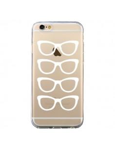 Coque iPhone 6 et 6S Sunglasses Lunettes Soleil Blanc Transparente - Project M