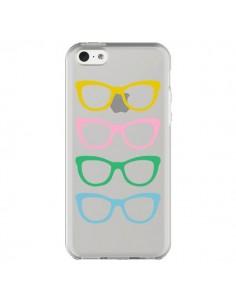 Coque iPhone 5C Sunglasses Lunettes Soleil Couleur Transparente - Project M