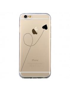 Coque iPhone 6 et 6S Travel to your Heart Noir Voyage Coeur Transparente - Project M