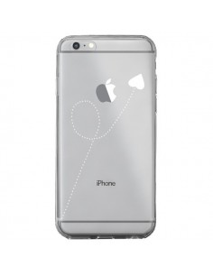 Coque iPhone 6 Plus et 6S Plus Travel to your Heart Blanc Voyage Coeur Transparente - Project M